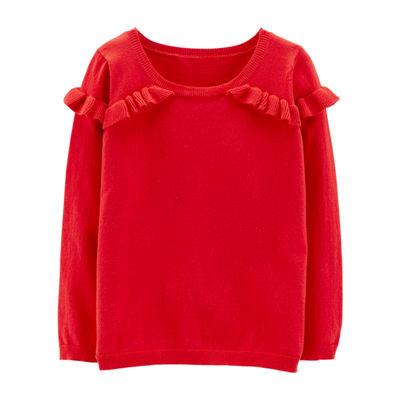 Carter's Ruffle Sweater - Preschool Girl