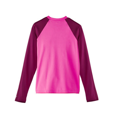Nike Girls Logo Rash Guard-Big Kid