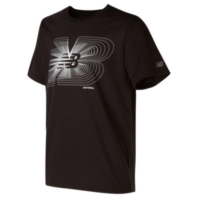 New Balance Boys Round Neck Short Sleeve Moisture Wicking T-Shirt-Preschool