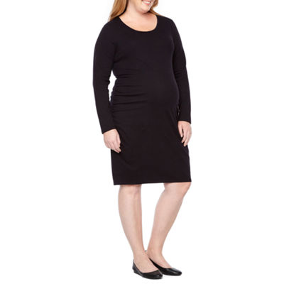 Belle & Sky Maternity Long Sleeve Dress - Plus