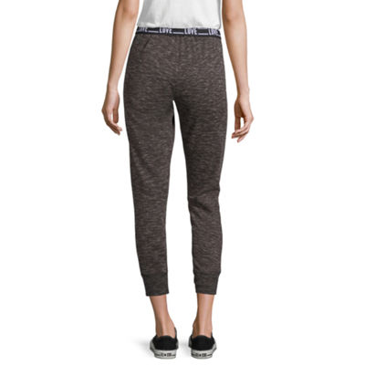 Flirtitude Fleece Jogger Pants-Juniors
