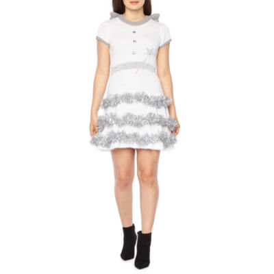 City Streets Holiday Angel Light Up Dress-Juniors
