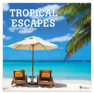 Tf Publishing 2019 Tropical Escapes Wall Calendar