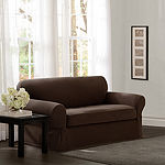 Maytex Smart Cover® Pixel Textured Mini Dot Stretch 2 Piece Loveseat Furniture Cover Slipcover