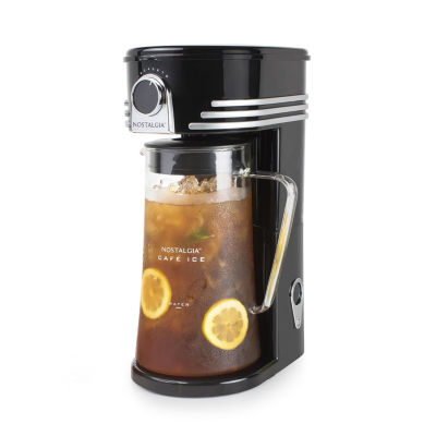 Nostalgia CI3BK Café Ice 3-Quart Iced Coffee and Tea Brewing System