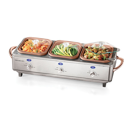 Home Craft DCBS15 Deluxe Stainless Steel Cook & Serve Buffet Server