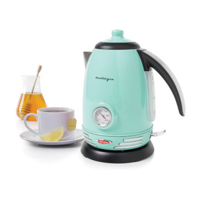 Nostalgia RWK150AQ Retro Series 1.7-Liter Stainless Steel Electric Water Kettle