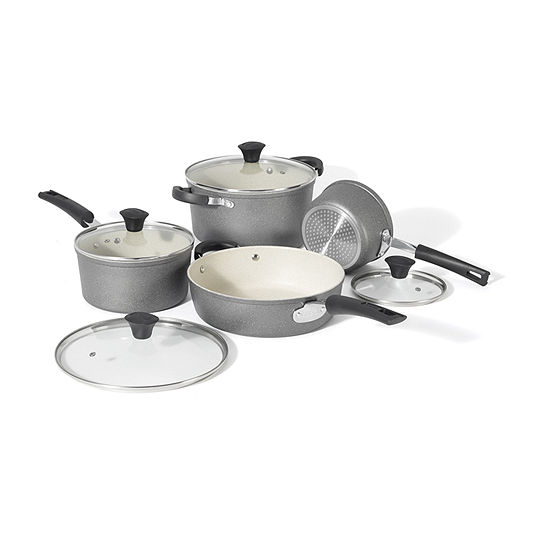 Starfrit The Rock 8-pc. Aluminum Cookware Set