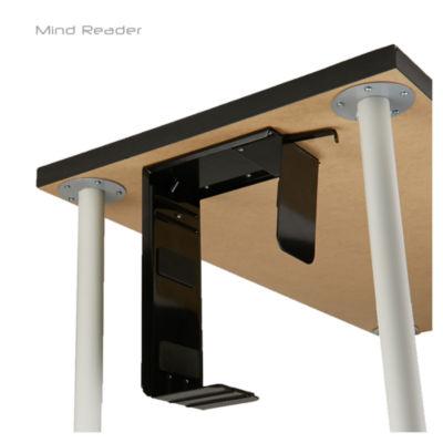 Mind Reader Under Desk Computer Tower Adjustable Holder, Black