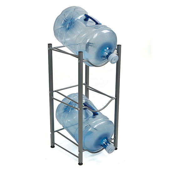 Mind Reader 3 Tier Water Cooler Jug Rack, Silver