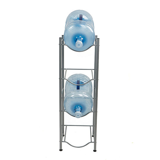 Mind Reader 4 Tier Water Cooler Jug Rack, Silver