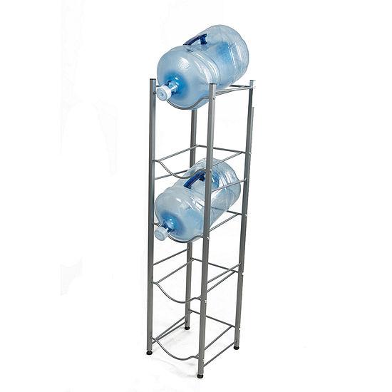 Mind Reader 5 Tier Water Cooler Jug Rack, Silver