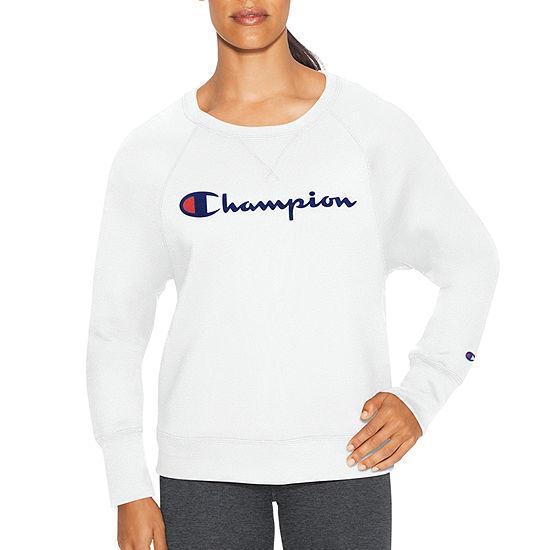 Champion Fleece Graphic Long Sleeve Crew Neck Sweatshirt