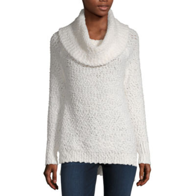 Liz Claiborne Textured Cowl Neck Tunic- Plus