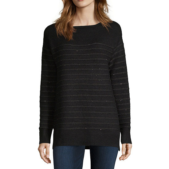 Liz Claiborne Womens Boat Neck Long Sleeve Pullover Sweater - JCPenney 2e4c8cab5