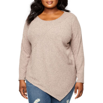 Alyx Long Sleeve Round Neck Pullover Sweater - Plus