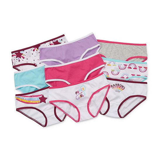Arizona Little & Big Girls 9 Pack Hipster Panty