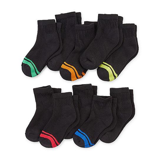 Xersion 10 Pair Quarter Socks Boys Preschool / Big Kid