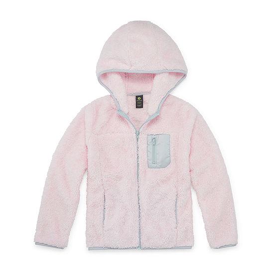 Xersion Minky Fleece Little & Big Girls Lightweight Softshell Jacket