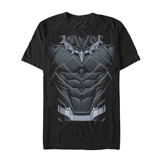 Marvel Black Panther Classic Suit Costume Mens Crew Neck Short Sleeve Marvel Graphic T-Shirt