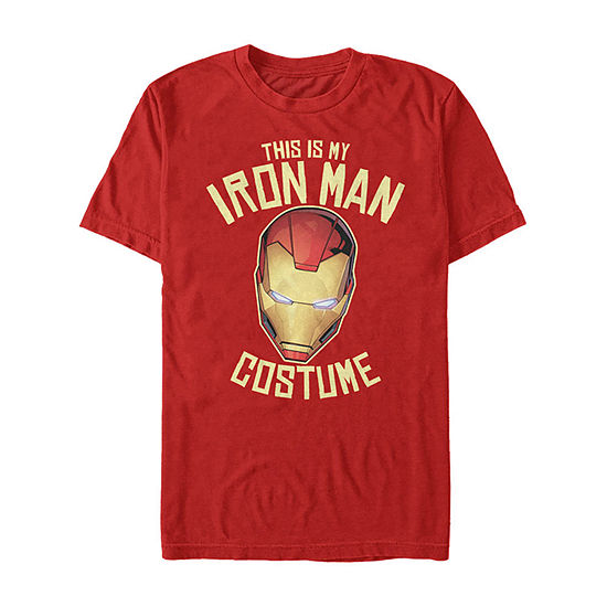 Marvel Avengers Iron Man Halloween Costume Mens Crew Neck Short Sleeve Marvel Graphic T-Shirt