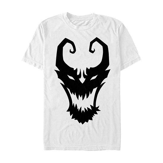 Marvel Venom Symbol Logo Comic Mens Crew Neck Short Sleeve Graphic T-Shirt
