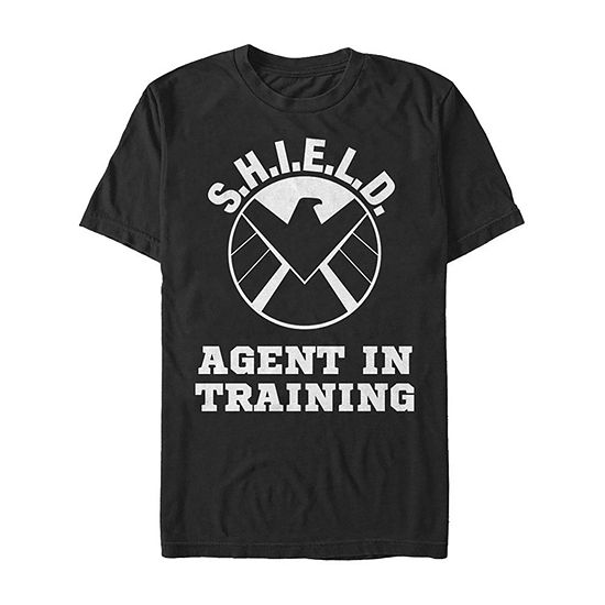 Marvel S.H.I.E.L.D. Agent In Training Eagle Academy Mens Crew Neck Short Sleeve Marvel Graphic T-Shirt