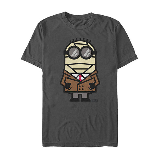 Despicable Me Invisible Halloween Monster Mens Crew Neck Short Sleeve Minons Graphic T-Shirt