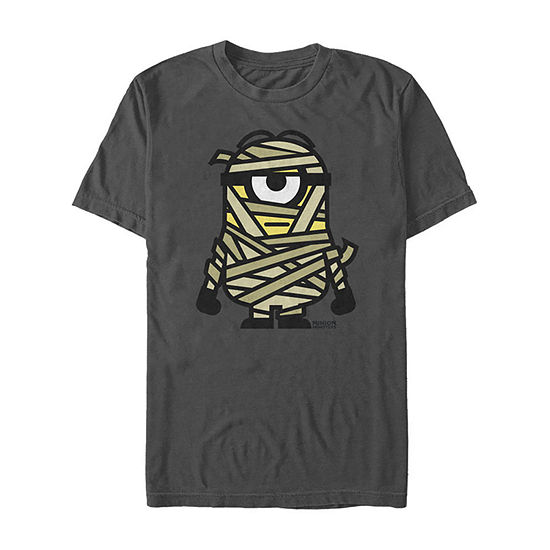 Despicable Me Mummy Halloween Monster Mens Crew Neck Short Sleeve Minons Graphic T-Shirt