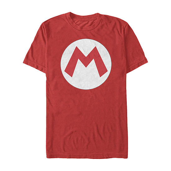 Nintendo Super Mario Icon Costume Mens Crew Neck Short Sleeve Graphic T-Shirt