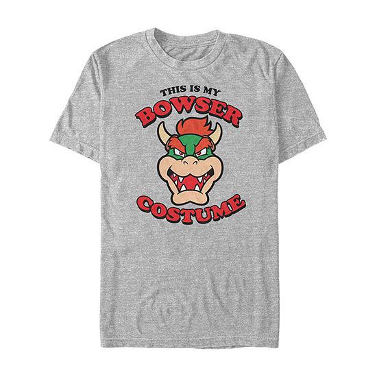 Nintendo Super Mario Bowser Costume Mens Crew Neck Short Sleeve Graphic T-Shirt