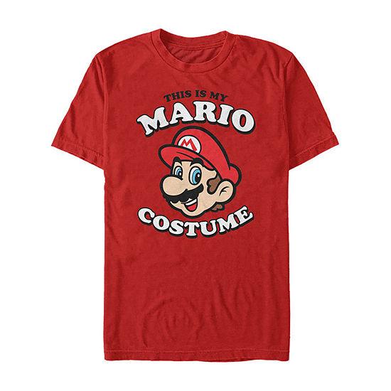 Nintendo Super Mario My Mario Costume Mens Crew Neck Short Sleeve Graphic T-Shirt