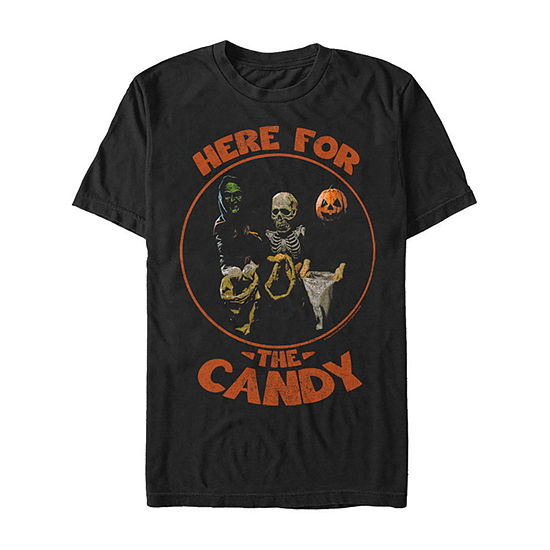 Halloween 3 Here For The Candy Mens Crew Neck Short Sleeve Graphic T-Shirt
