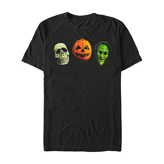 Halloween 3 Trio Masks Mens Crew Neck Short Sleeve Graphic T-Shirt