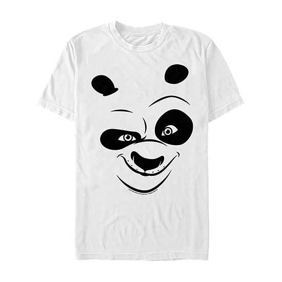 Kung Fu Panda Po Big Face Costume Mens Crew Neck Short Sleeve Graphic T-Shirt