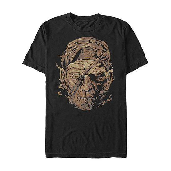 Universal Monsters Mummy Big Face Mens Crew Neck Short Sleeve Graphic T-Shirt