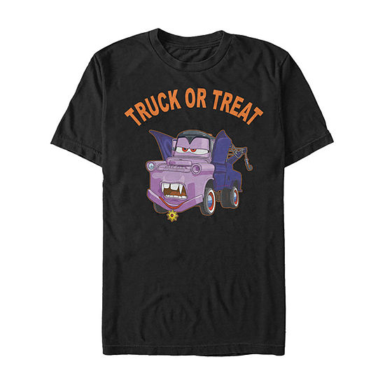 Disney Pixar Cars 2 Mater Vampire Halloween Mens Crew Neck Short Sleeve Cars Graphic T-Shirt