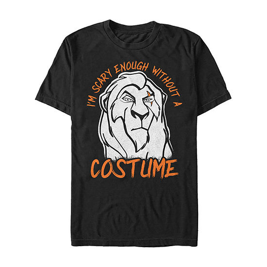 Lion King Scar Without A Costume Mens Crew Neck Short Sleeve The Lion King Graphic T-Shirt