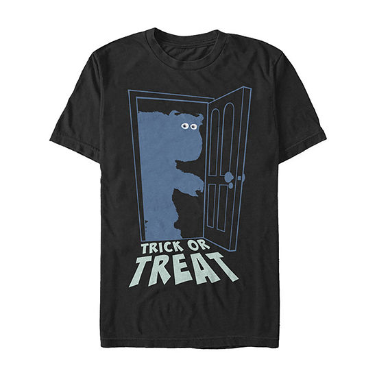 Monsters Inc Sulley Trick Or Treat Mens Crew Neck Short Sleeve Monsters University Graphic T-Shirt