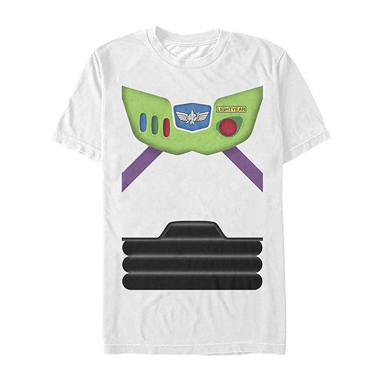 Disney Pixar Toy Story Buzz Lightyear Suit Costume Mens Crew Neck Short Sleeve Toy Story Graphic T-Shirt