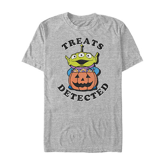 Disney Pixar Toy Story Halloween Treats Mens Crew Neck Short Sleeve Toy Story Graphic T-Shirt