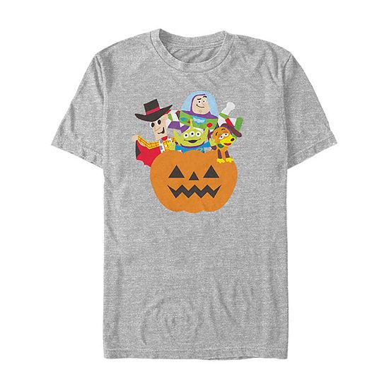 Disney Pixar Toy Story Halloween Simple Art Mens Crew Neck Short Sleeve Graphic T-Shirt