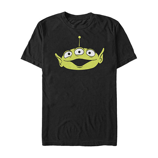 Toy Story Alien Big Face Mens Crew Neck Short Sleeve Toy Story Graphic T-Shirt