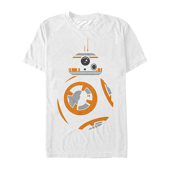Star Wars Bb-8 Profile Colored Stencil Art Mens Crew Neck Short Sleeve Star Wars Graphic T-Shirt