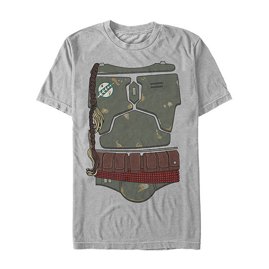 Star Wars Boba Fett'S Body Suit Mens Crew Neck Short Sleeve Star Wars Graphic T-Shirt