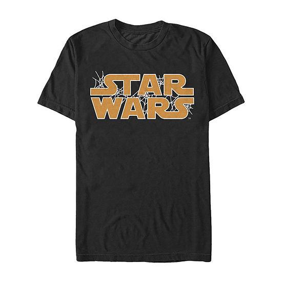 Star Wars Webbed Logo Mens Crew Neck Short Sleeve Graphic T-Shirt