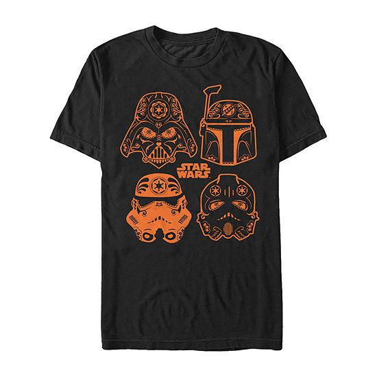 Star Wars Sugar Coated Empire Mens Crew Neck Short Sleeve Star Wars Graphic T-Shirt