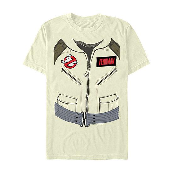 Ghostbusters Venkman Costume Mens Crew Neck Short Sleeve Graphic T-Shirt