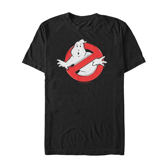 Ghostbusters Classic Logo Mens Crew Neck Short Sleeve Ghostbusters Graphic T-Shirt