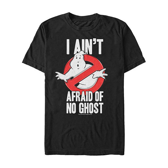 Ghostbusters Ain'T Afraid Of No Ghost Logo Mens Crew Neck Short Sleeve Ghostbusters Graphic T-Shirt